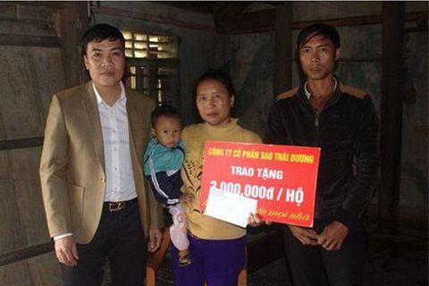Sao Thái Dương - Chung tay khắc phục hậu quả cơn bão số 10 tại Hà Tĩnh