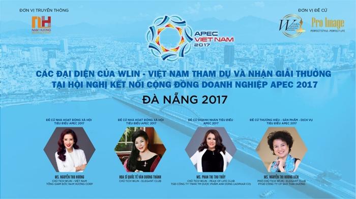 Đại diện Sao Thái Dương và wlin vietnam nhận giải thưởng apec 2017