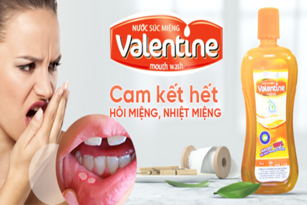 Vệ sinh răng miệng bằng nano bạc với nước súc miệng Valentine