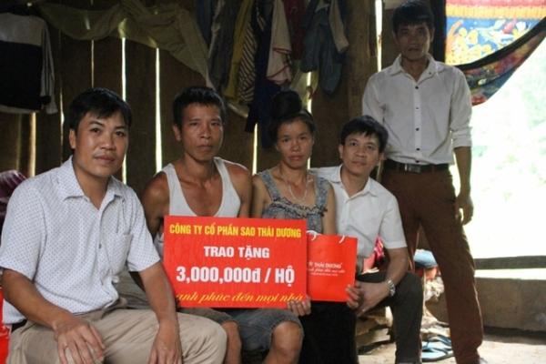 Sao Thái Dương – Chung tay khắc phục hậu quả mưa lũ cùng đồng bào miền Tây Bắc