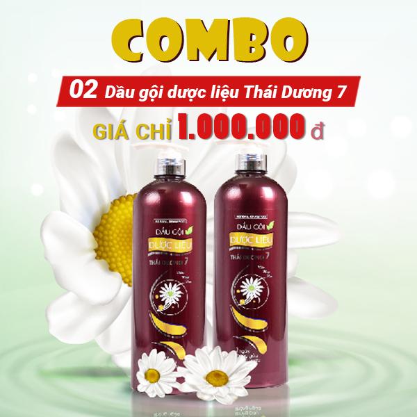 Combo 02 Dầu gội dược liệu Thái Dương 7 ( 1100ml )